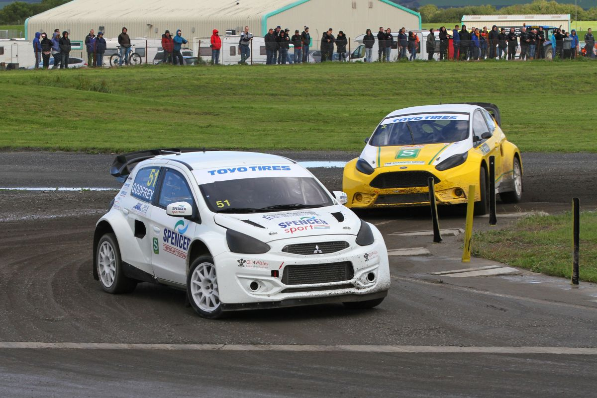 Spencer Sport aims to bring British Rallycross title home to Wales after third victory of the season at Pembrey